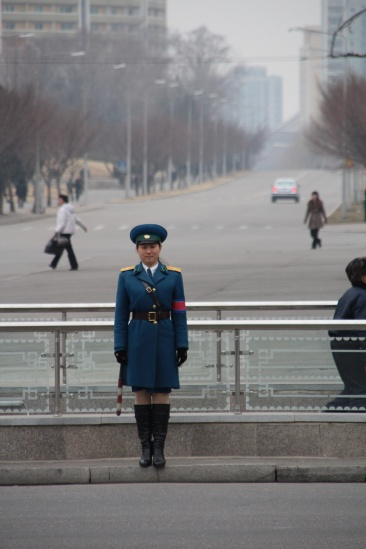 Une traffic girl de Pyongyang